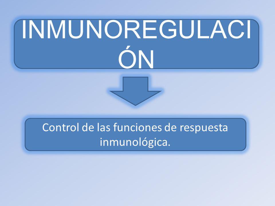 Control de las funciones de respuesta inmunológica.