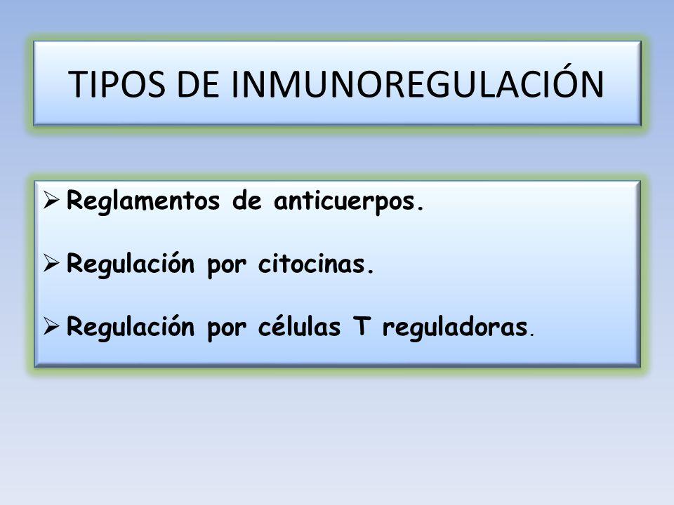 TIPOS DE INMUNOREGULACIÓN