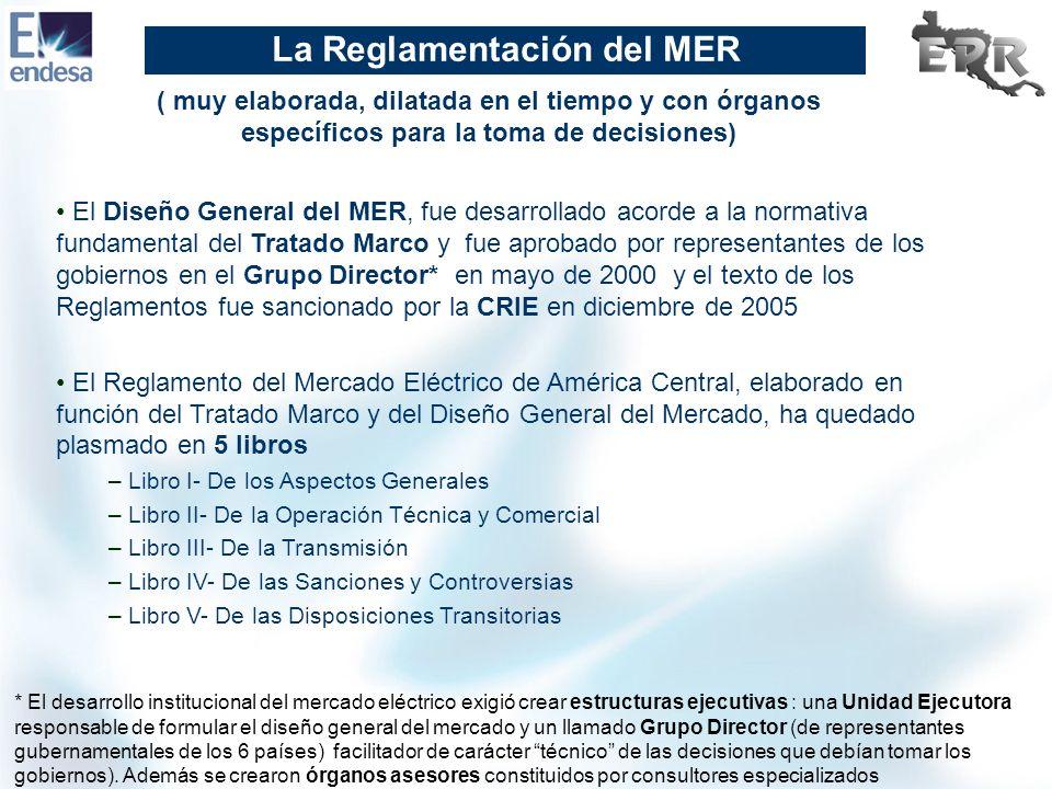 La Reglamentación del MER