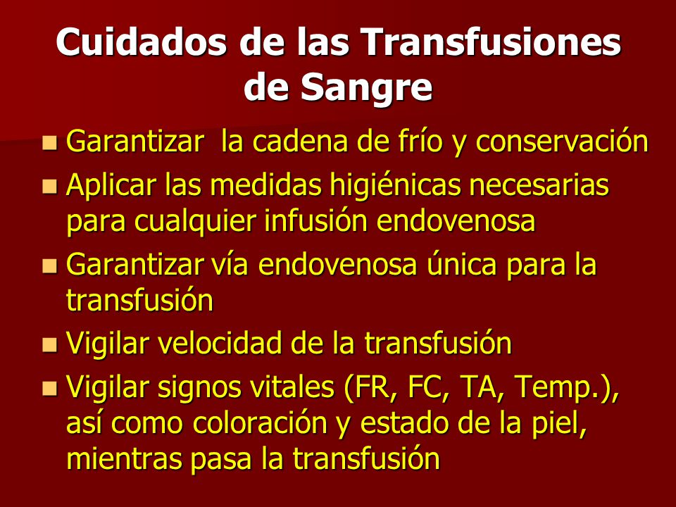 Transfusiones de sangre ppt video online descargar for Cuidados de la vinca