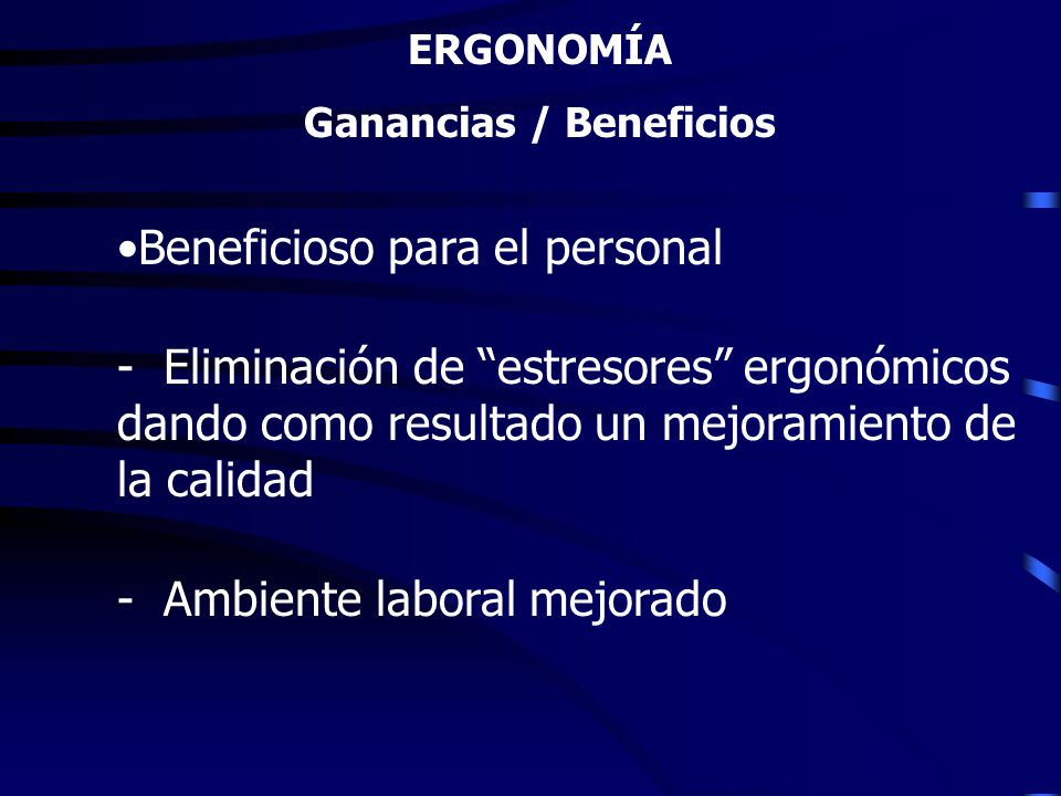 Ganancias / Beneficios