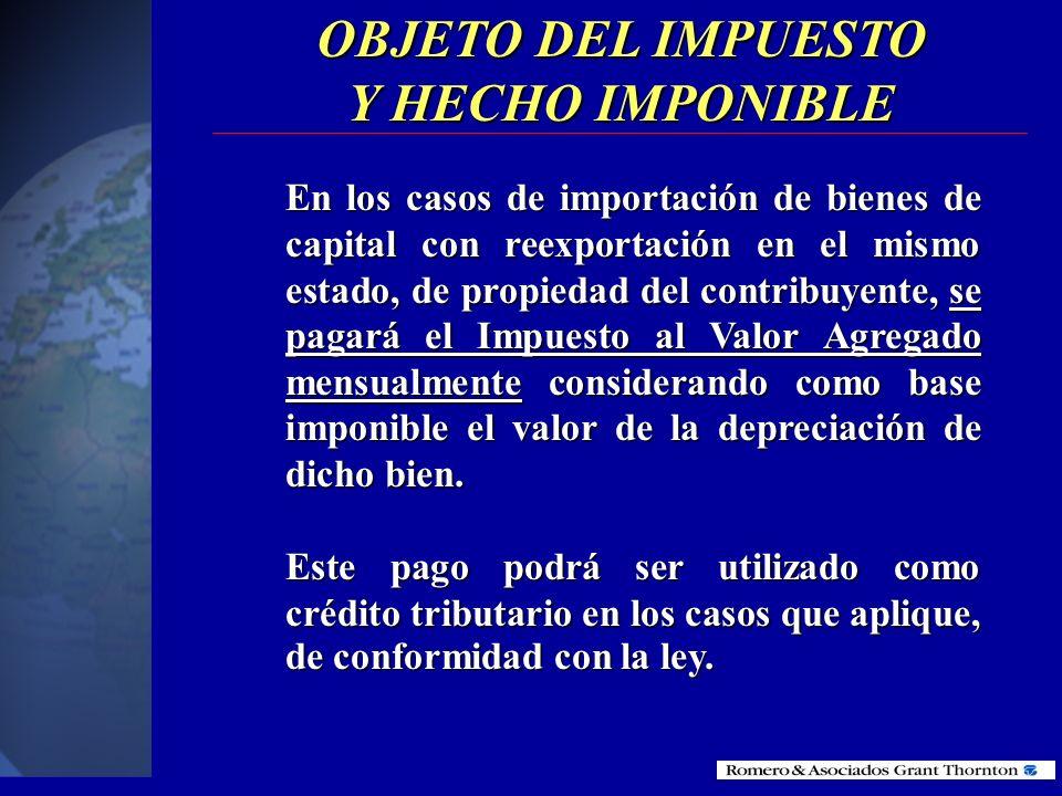 OBJETO DEL IMPUESTO Y HECHO IMPONIBLE