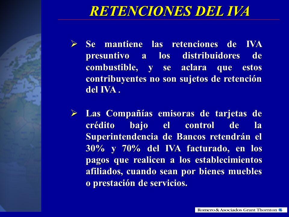 RETENCIONES DEL IVA