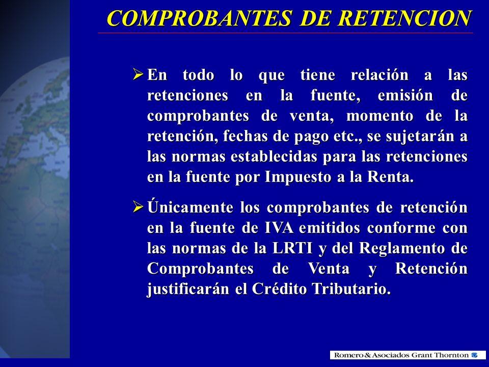 COMPROBANTES DE RETENCION