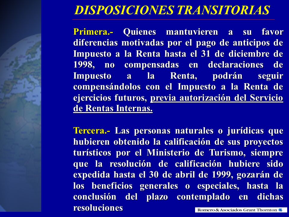 DISPOSICIONES TRANSITORIAS