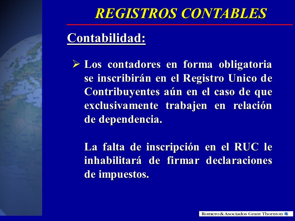 REGISTROS CONTABLES Contabilidad: