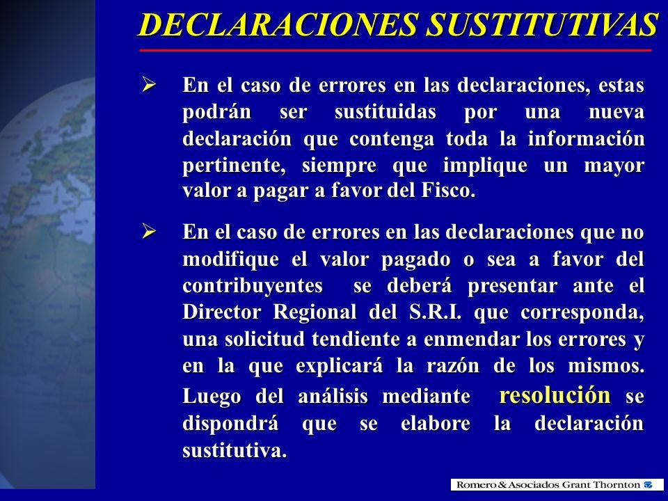DECLARACIONES SUSTITUTIVAS