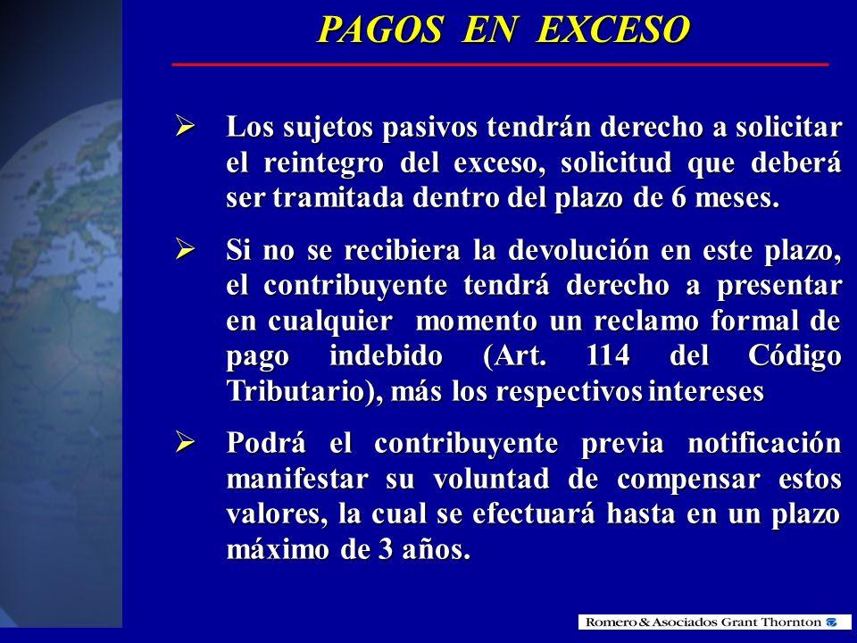 PAGOS EN EXCESO