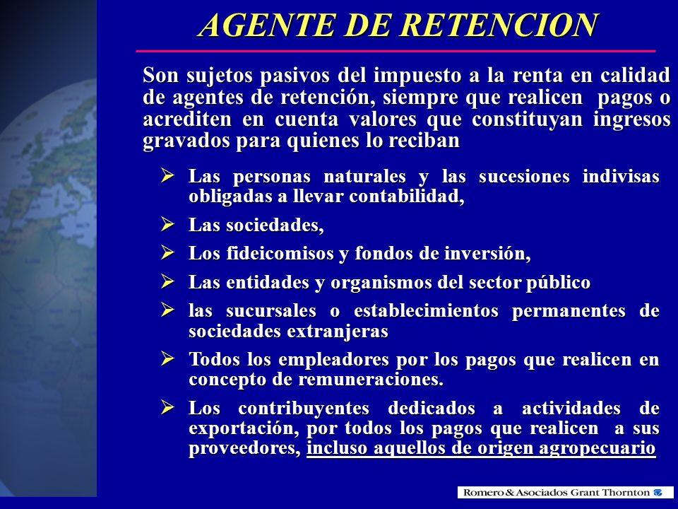 AGENTE DE RETENCION