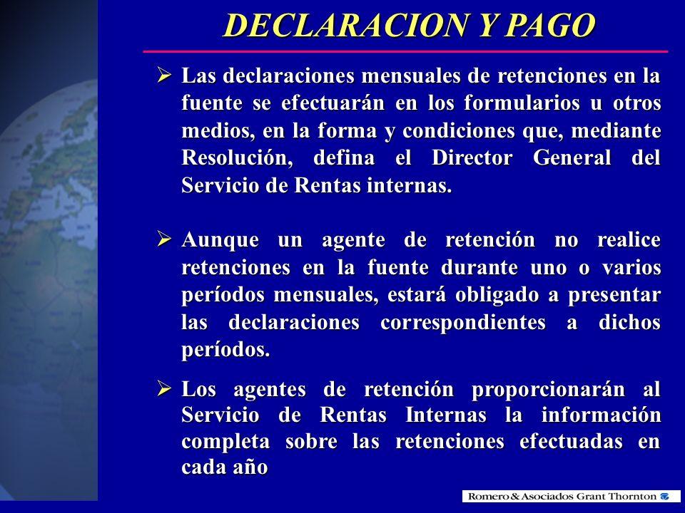 DECLARACION Y PAGO