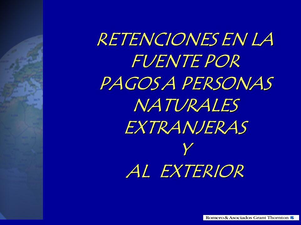 RETENCIONES EN LA FUENTE POR PAGOS A PERSONAS NATURALES EXTRANJERAS