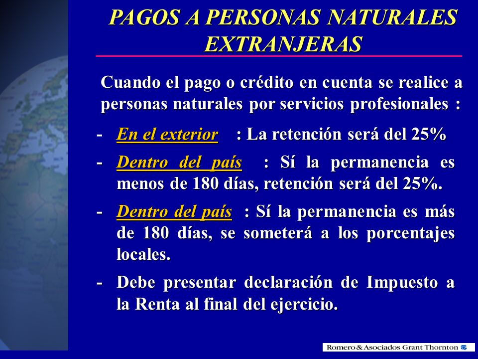 PAGOS A PERSONAS NATURALES EXTRANJERAS