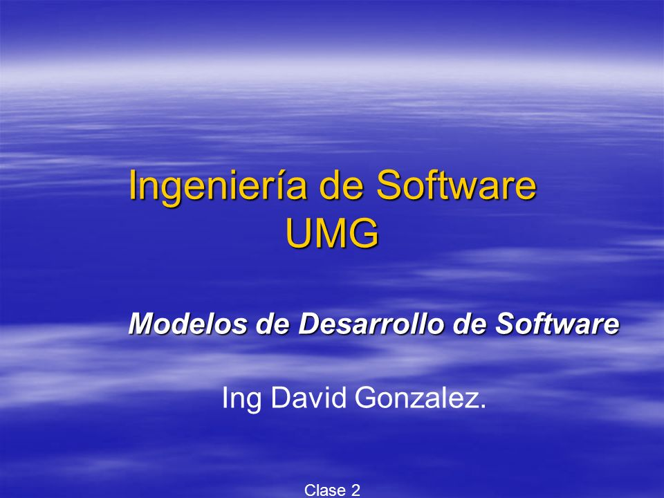 Ingeniería de Software UMG