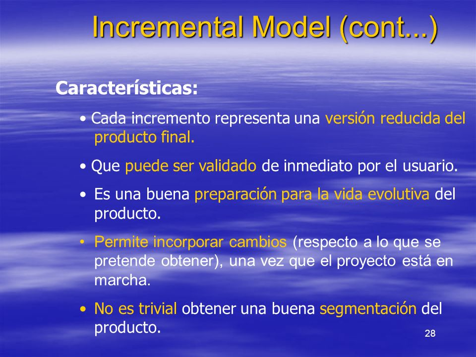 Incremental Model (cont...)