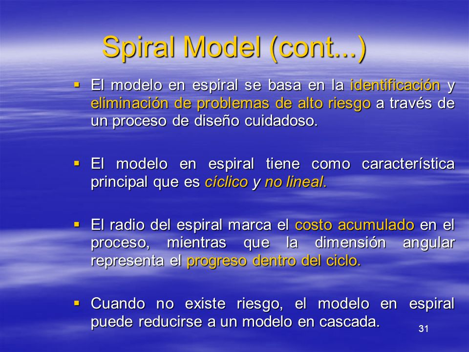 Spiral Model (cont...)
