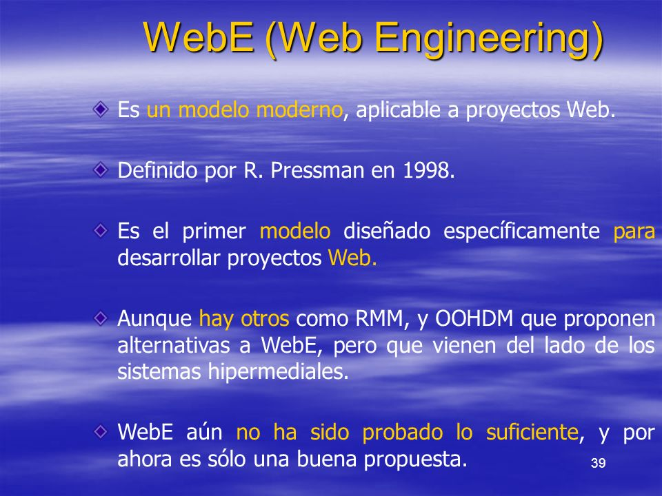 WebE (Web Engineering)