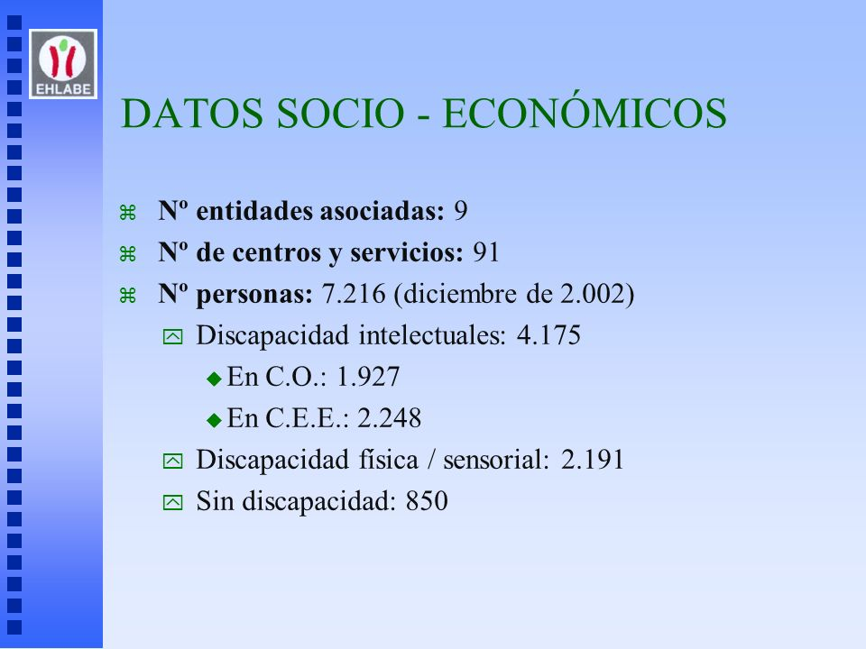 DATOS SOCIO - ECONÓMICOS