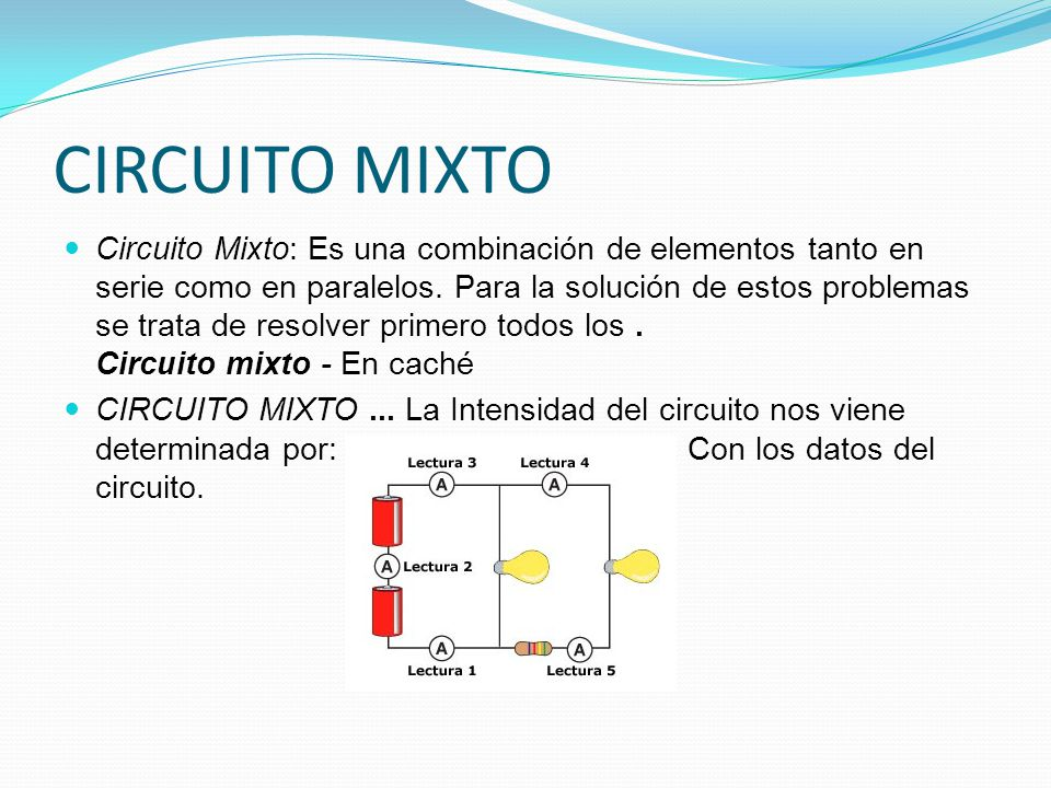 Circuito Mixto : Trabajo de los circuitos ppt video online descargar