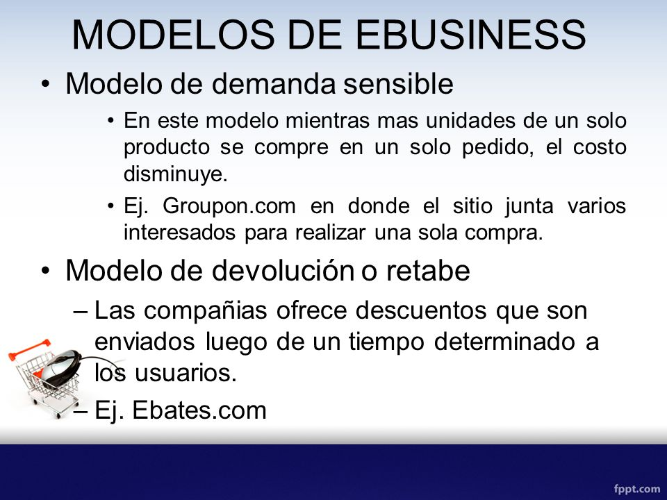 MODELOS DE EBUSINESS Modelo de demanda sensible
