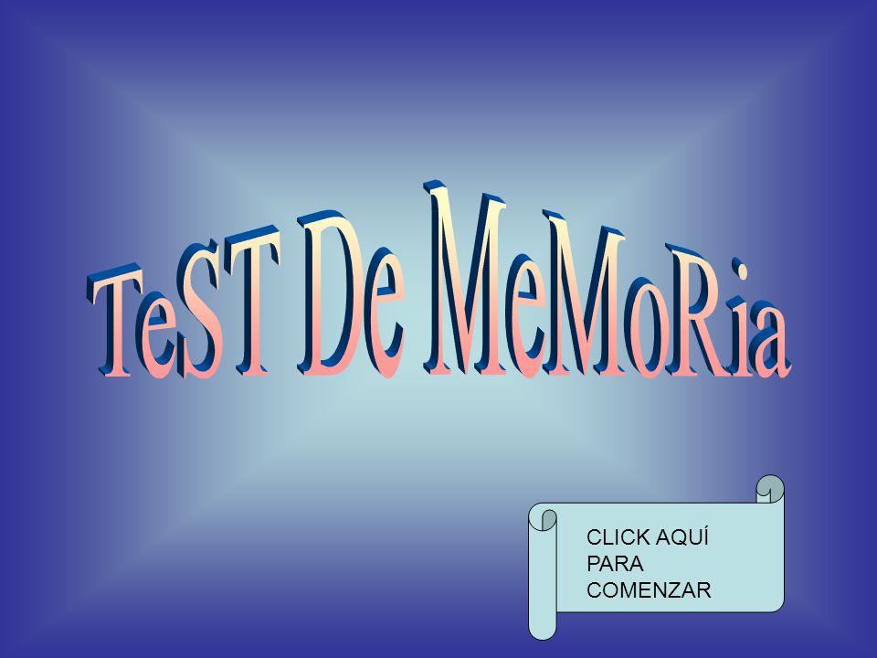 test de memoria click aqu para comenzar ppt descargar. Black Bedroom Furniture Sets. Home Design Ideas