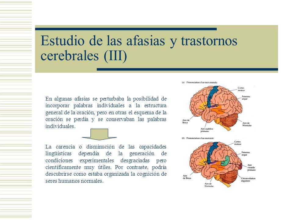 Estudio de las afasias y trastornos cerebrales (III)