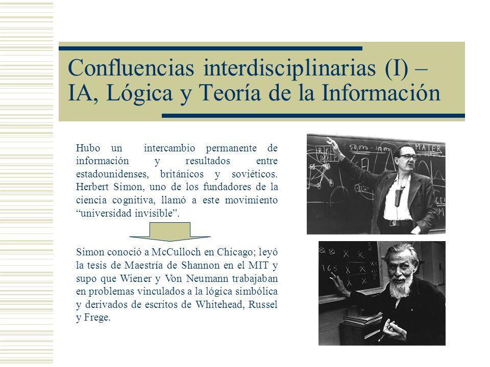 Confluencias interdisciplinarias (I) – IA, Lógica y Teoría de la Información