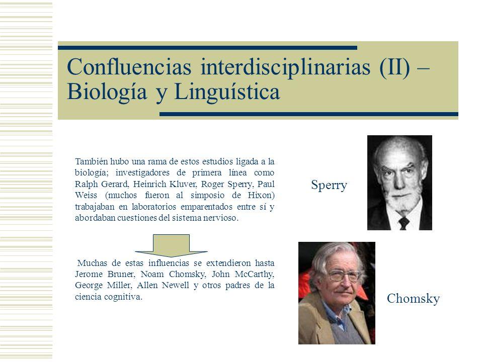 Confluencias interdisciplinarias (II) – Biología y Linguística