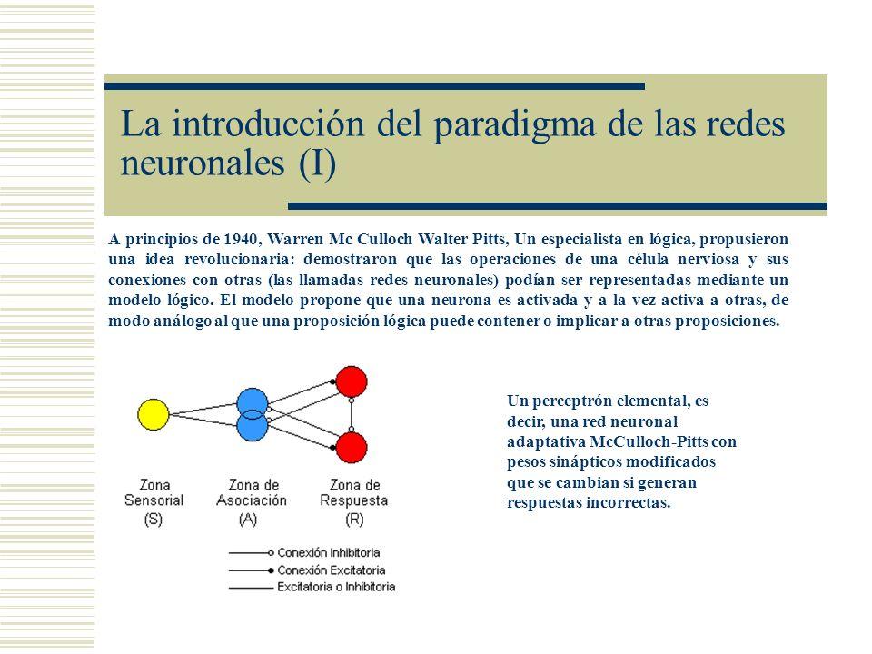 La introducción del paradigma de las redes neuronales (I)