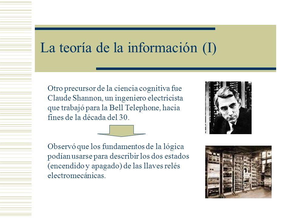 La teoría de la información (I)