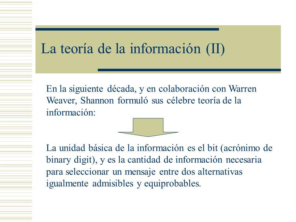 La teoría de la información (II)