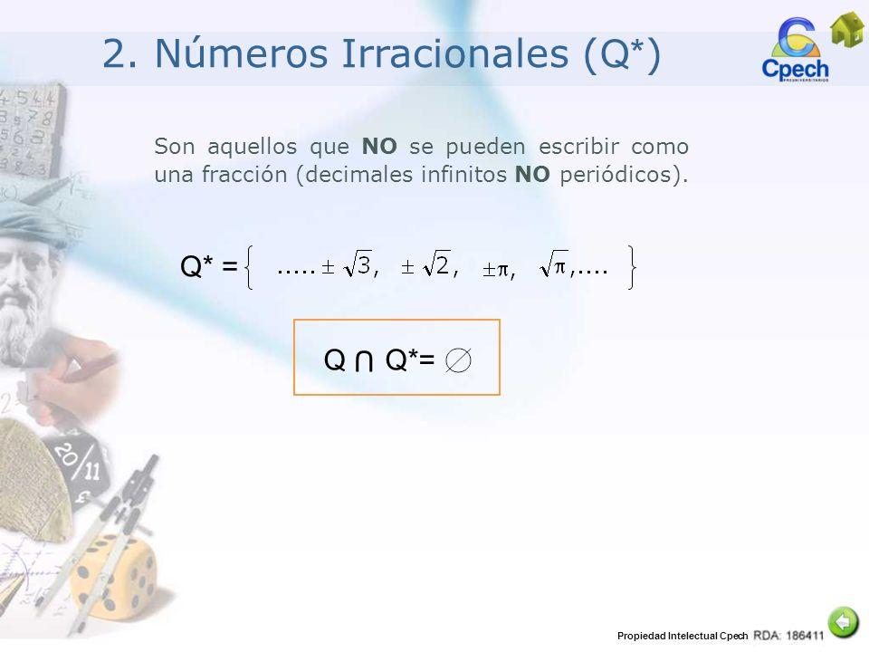 2. Números Irracionales (Q*)