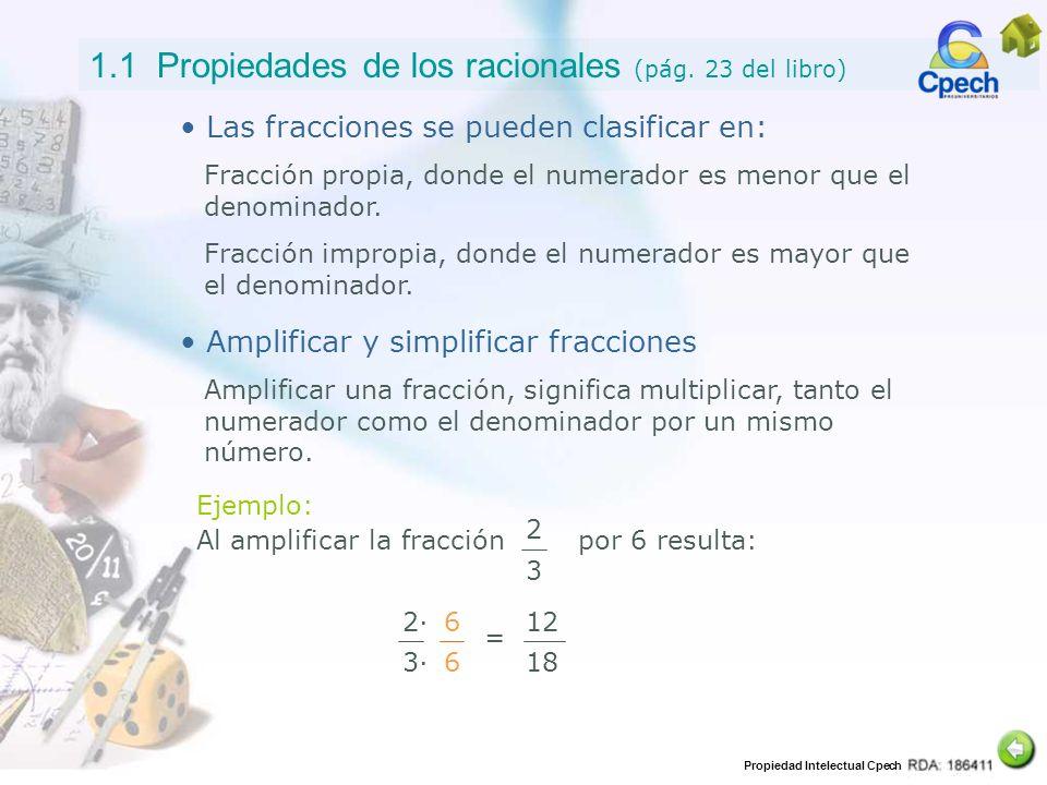 1.1 Propiedades de los racionales (pág. 23 del libro)