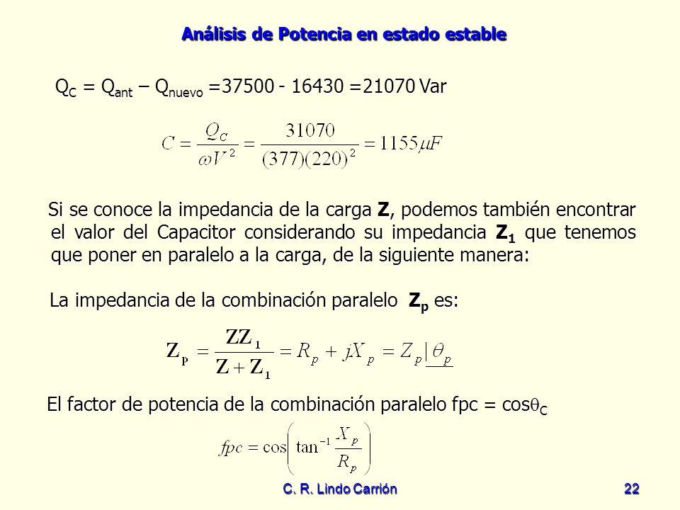 QC = Qant – Qnuevo =37500 - 16430 =21070 Var