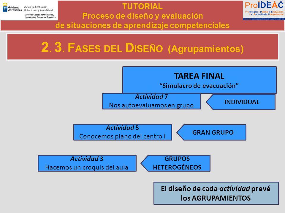 2. 3. FASES DEL DISEÑO (Agrupamientos)