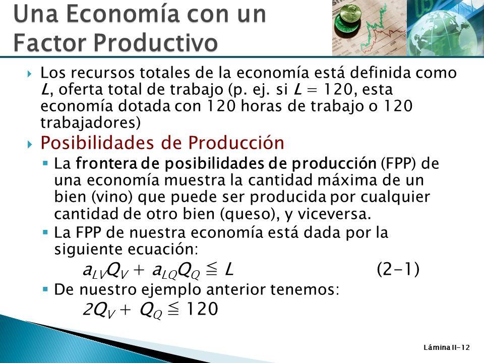 Una Economía con un Factor Productivo