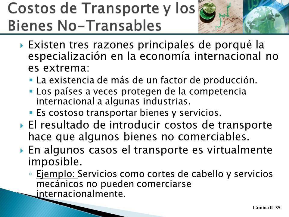 Costos de Transporte y los Bienes No-Transables
