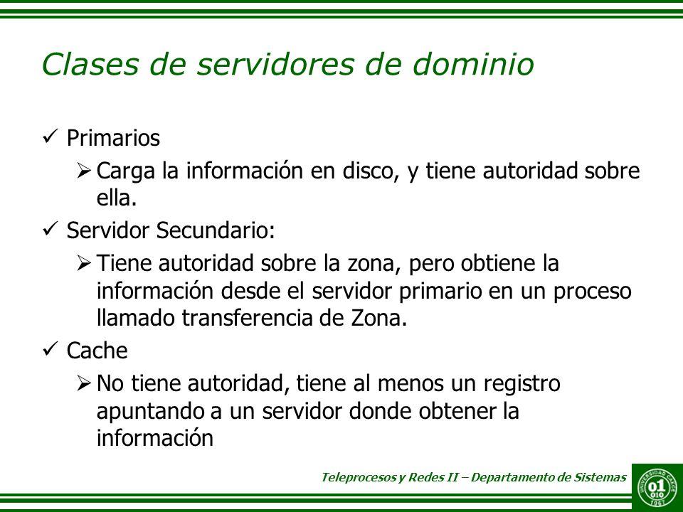 Clases de servidores de dominio