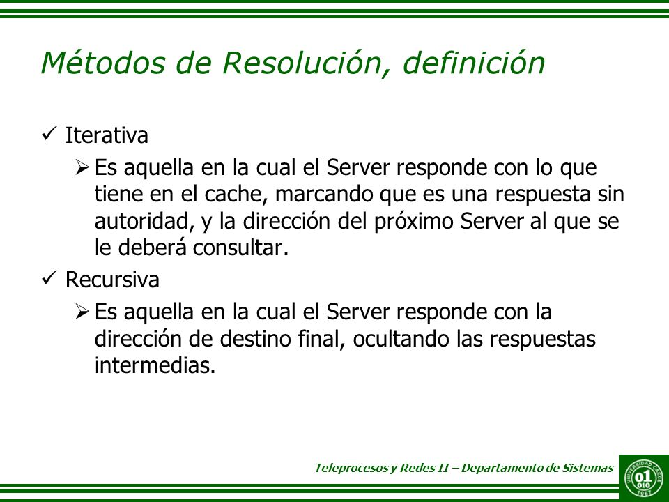 Métodos de Resolución, definición