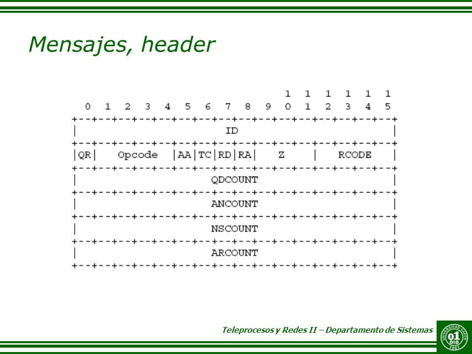 Mensajes, header ID.