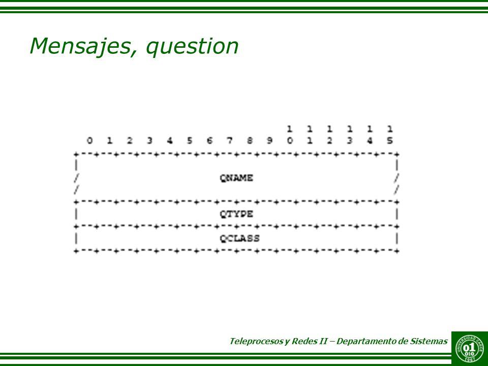 Mensajes, question QNAME