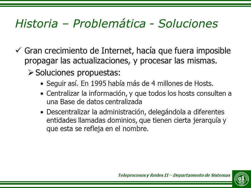 Historia – Problemática - Soluciones