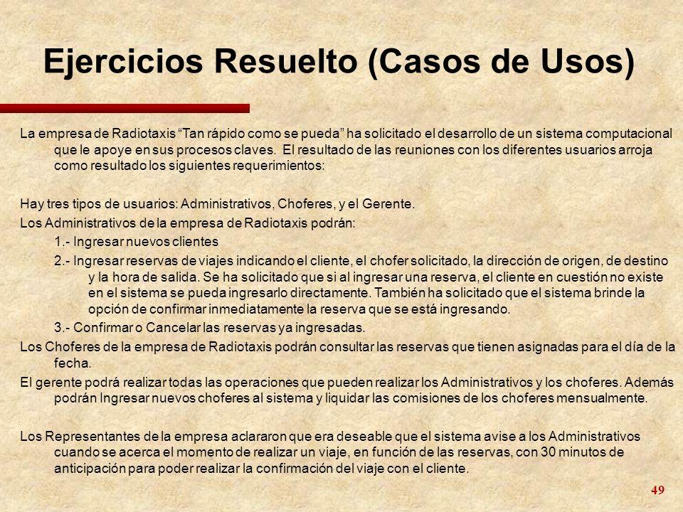 Ejercicios Resuelto (Casos de Usos)