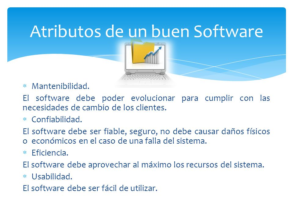 Atributos de un buen Software