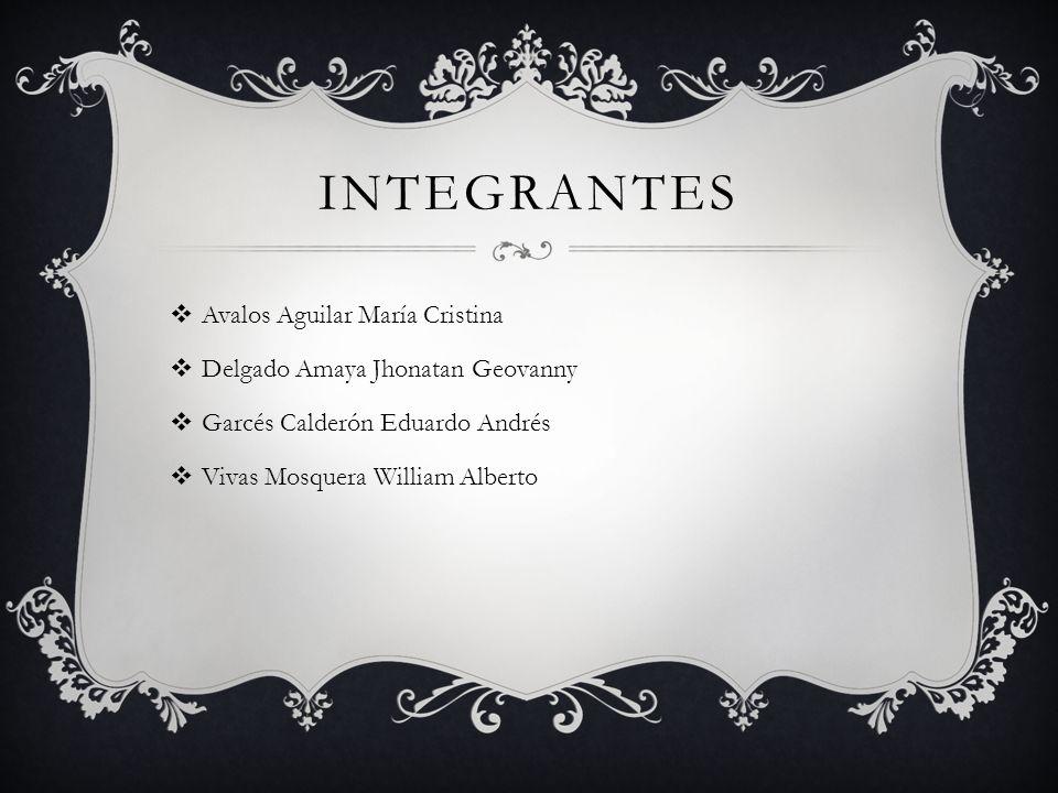 integrantes Avalos Aguilar María Cristina
