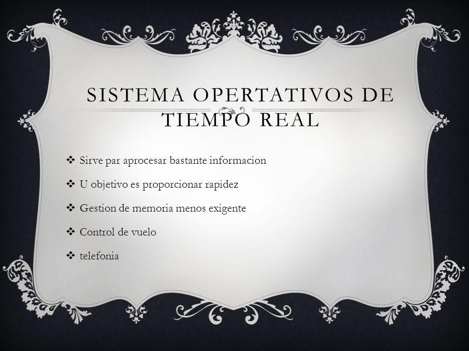 Sistema opertativos de tiempo real