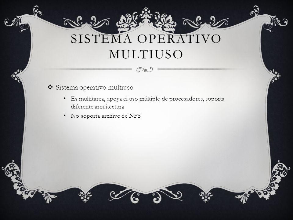 Sistema Operativo multiuso