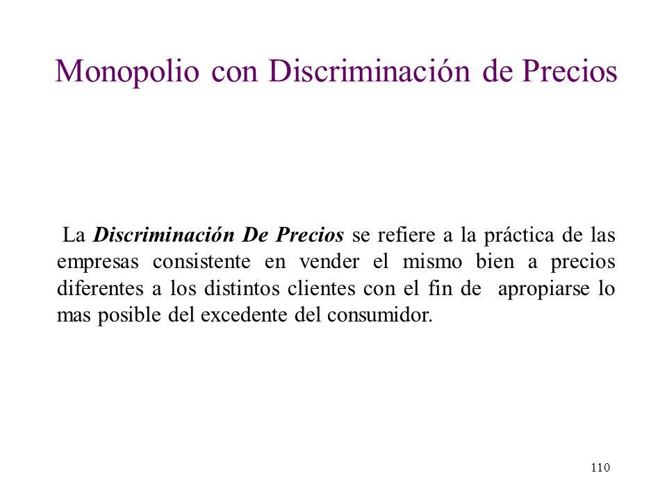 Monopolio con Discriminación de Precios