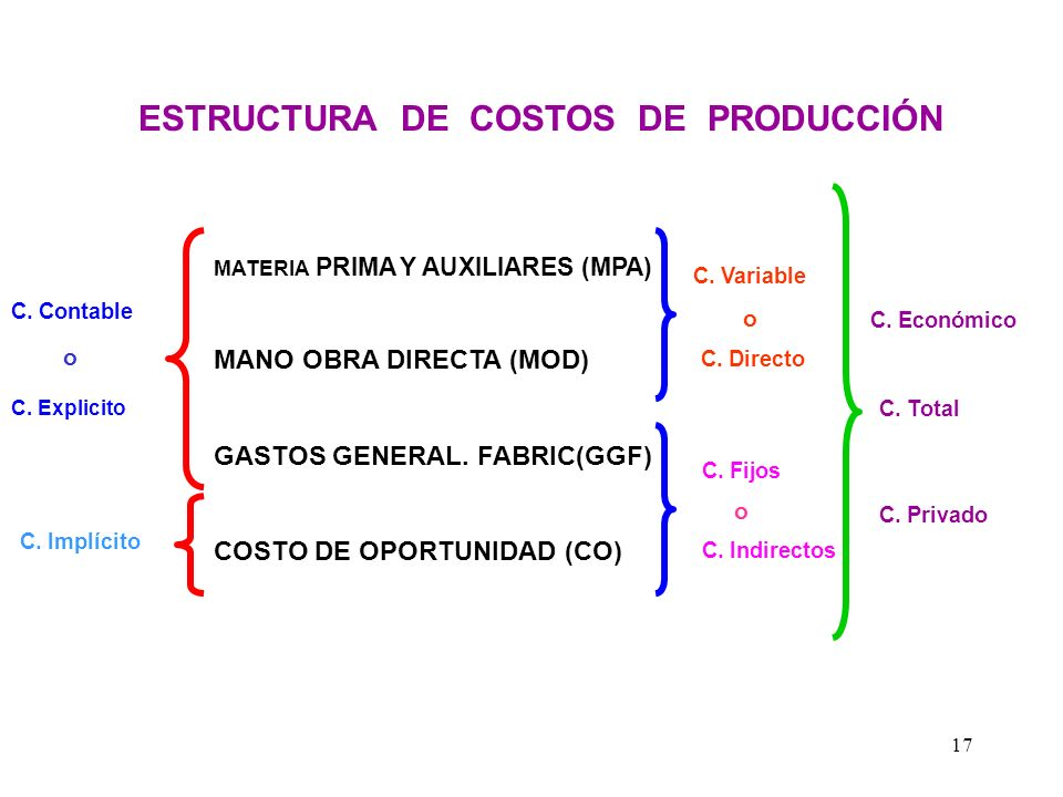 ESTRUCTURA DE COSTOS DE PRODUCCIÓN