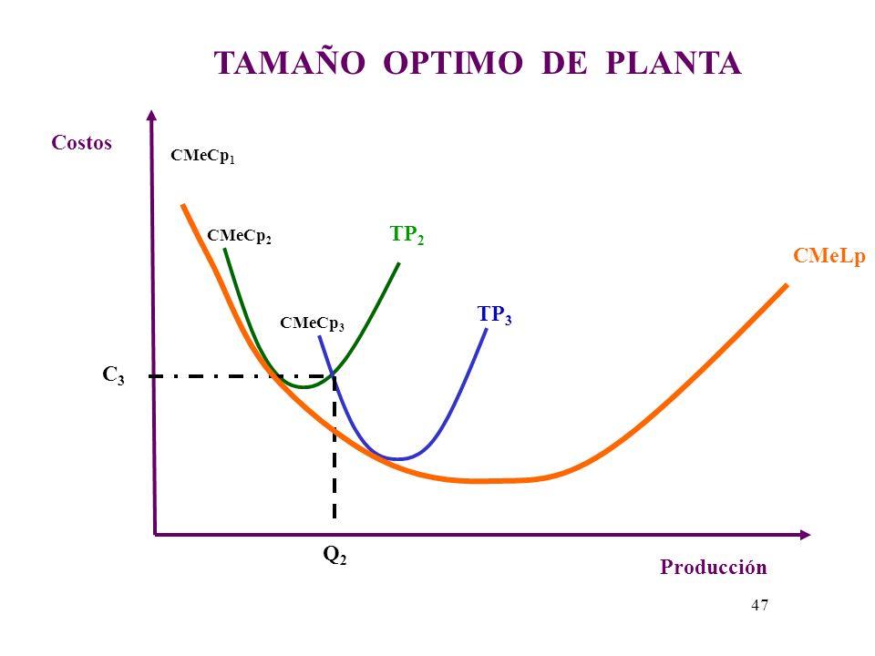 TAMAÑO OPTIMO DE PLANTA