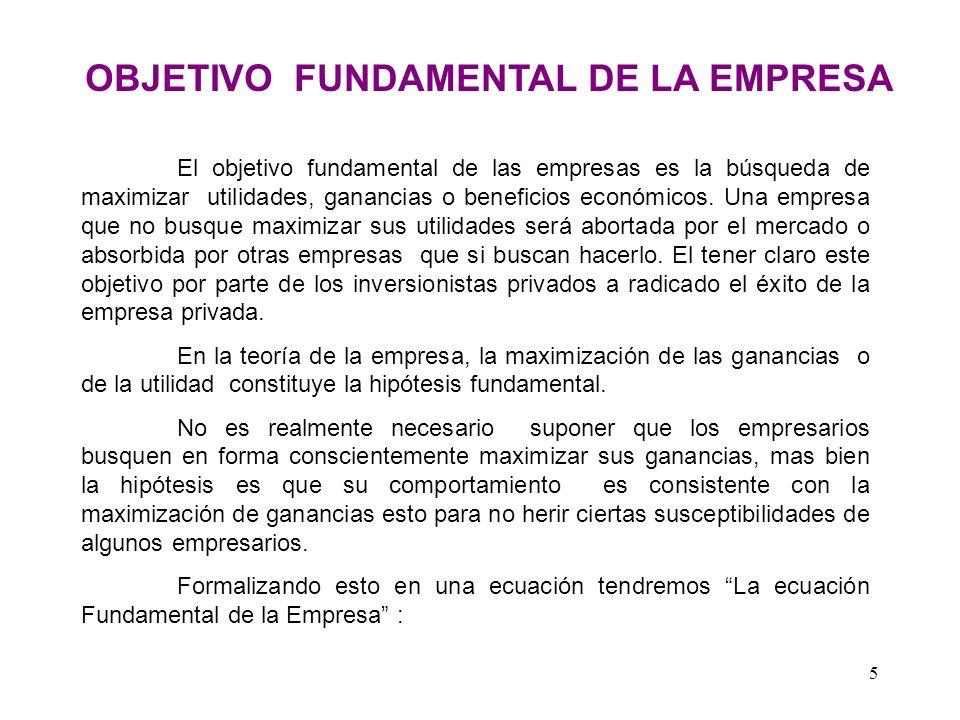 OBJETIVO FUNDAMENTAL DE LA EMPRESA